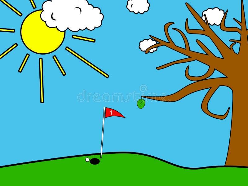 Campo do golfe ilustração royalty free