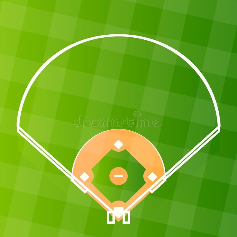 Campo do regular do basebol do vetor ilustração stock