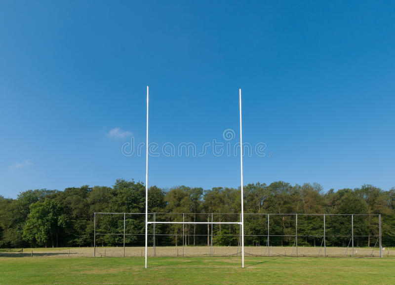 Campo do rugby foto de stock royalty free