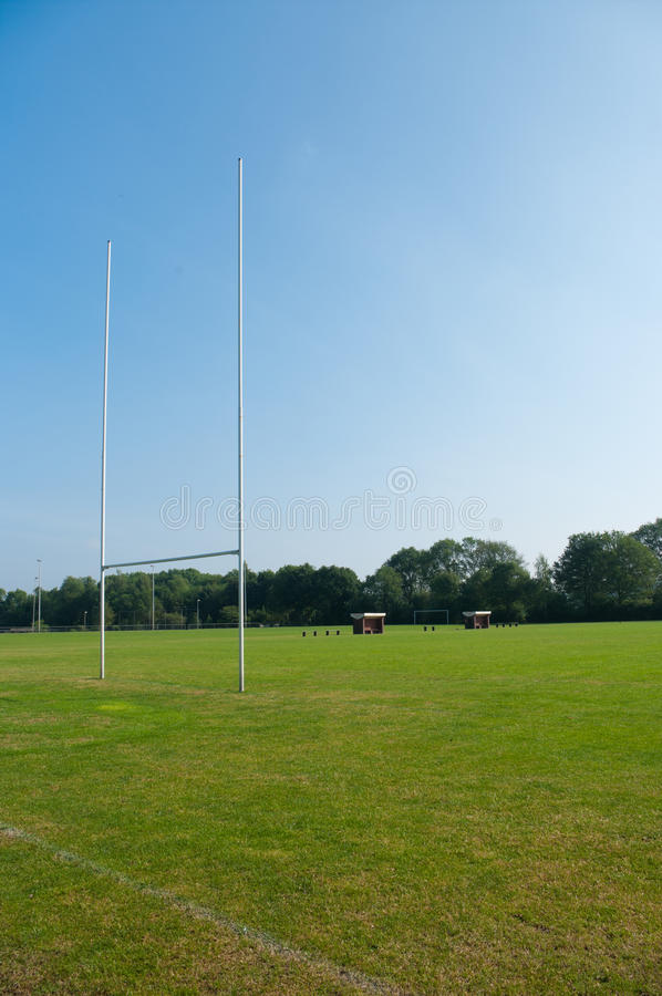 Campo do rugby imagens de stock royalty free