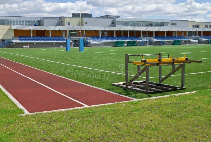 Campo do rugby e estádio do anfiteatro fotografia de stock royalty free