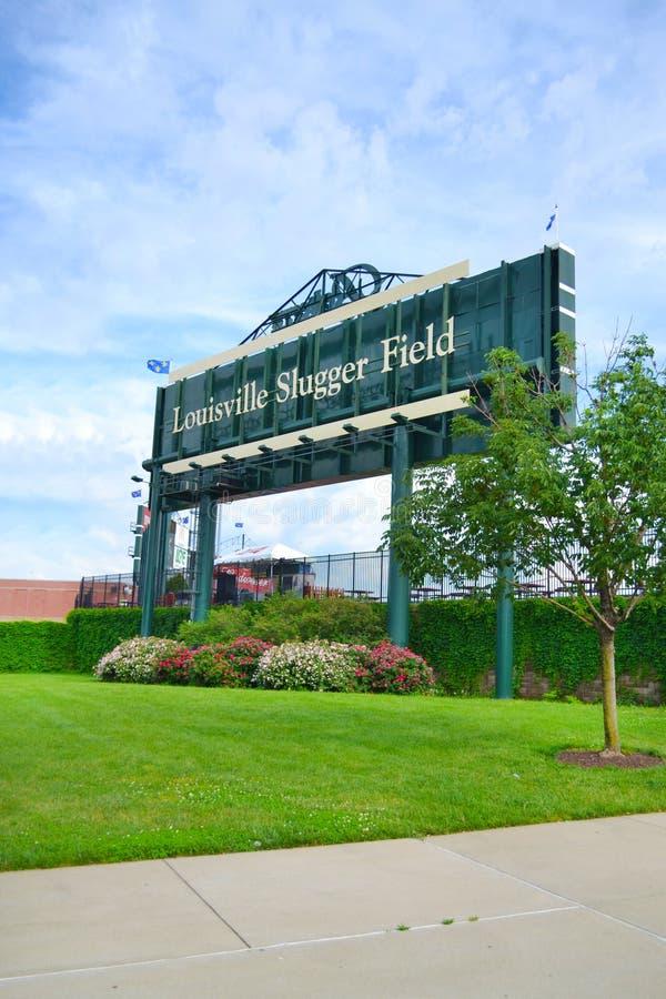 Campo do slugger de Louisville em Louisville, Kentucky EUA imagem de stock royalty free