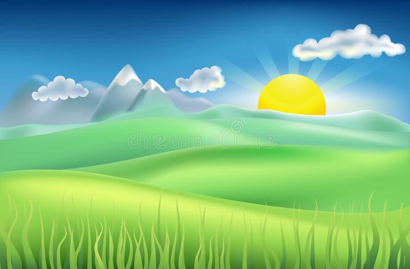 Campo do tempo de verão ilustração royalty free