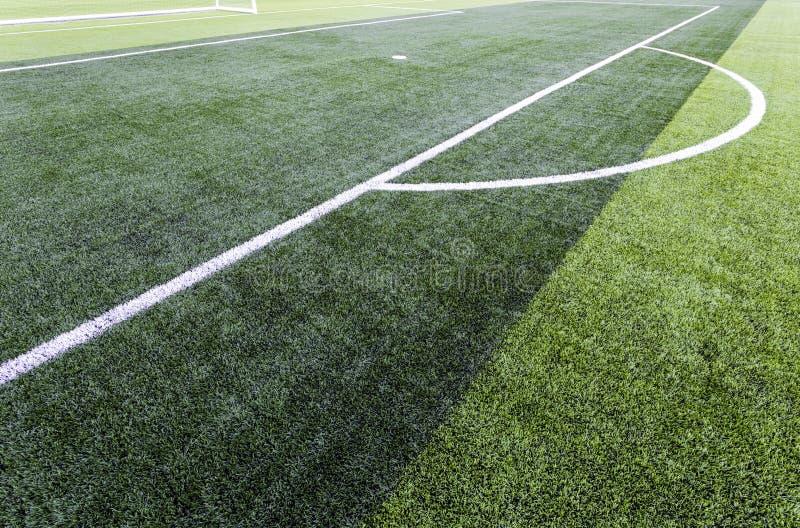 Campo do verde do futebol imagens de stock