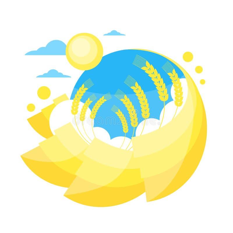 Download Campo Dorato Giallo Di Sun Di Estate Del Grano Del Cielo Blu Illustrazione Vettoriale - Illustrazione di naughty, dorato: 56881530