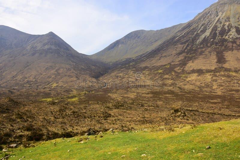 Campo escocês de Bleak imagens de stock