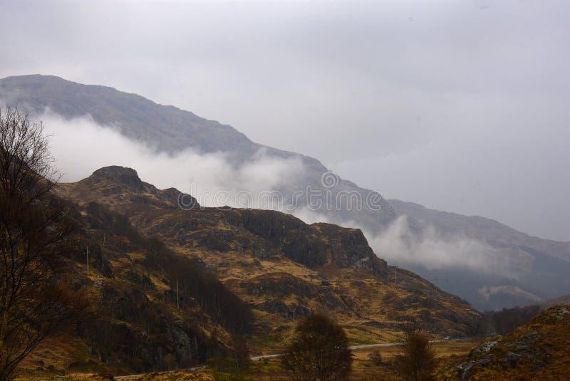 Campo escocês de Bleak fotos de stock royalty free
