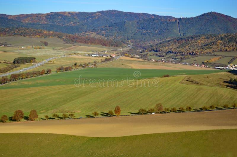 Campo eslovaco na região de Presov imagens de stock