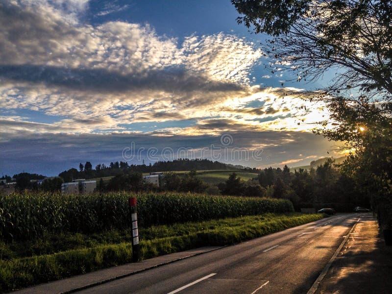 campo fuera de Berna imagen de archivo
