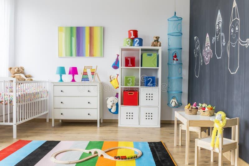 Campo giochi di una stanza del bambino fotografia stock libera da diritti