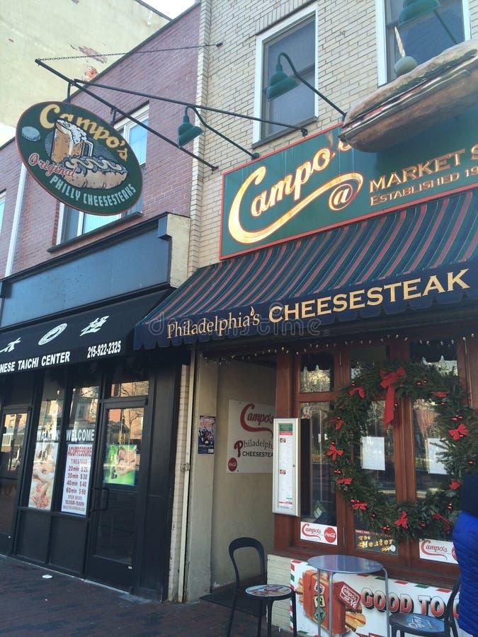 Campo het Restaurant van Philly Cheesesteaks stock afbeelding
