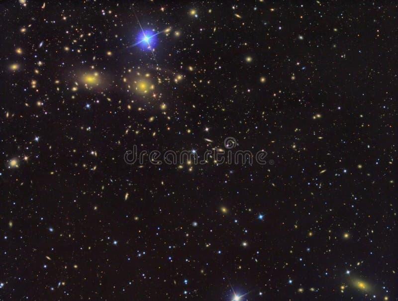 Campo IC3949 profundo das galáxias foto de stock