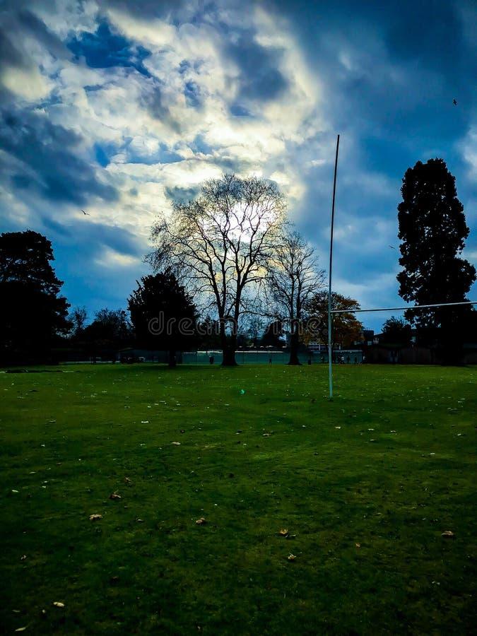 Campo Inglaterra de la escuela imagen de archivo