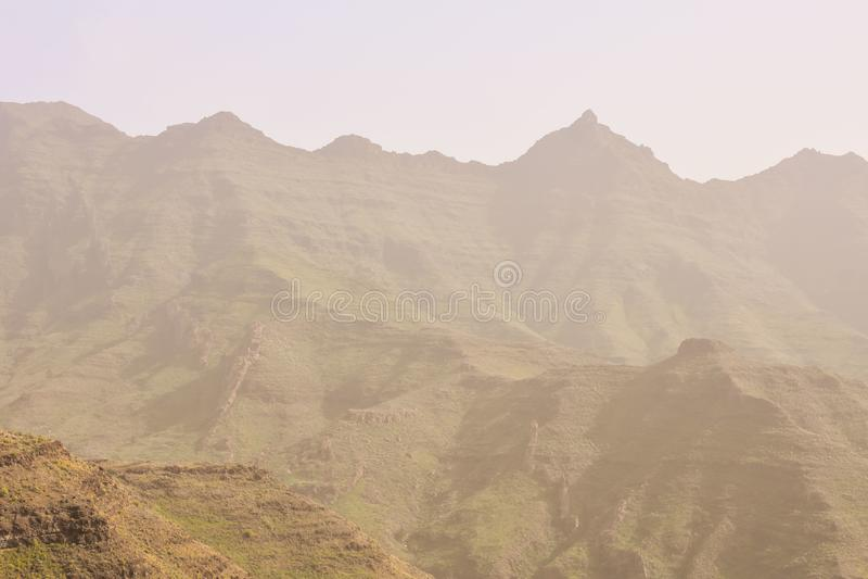 Campo natural europeu em Agaete Gran canaria fotografia de stock royalty free