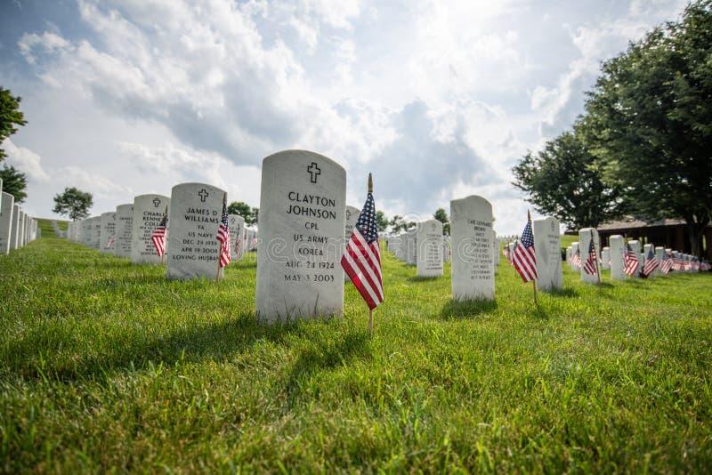 Campo Nelson Cemetery nel Kentucky fotografia stock libera da diritti