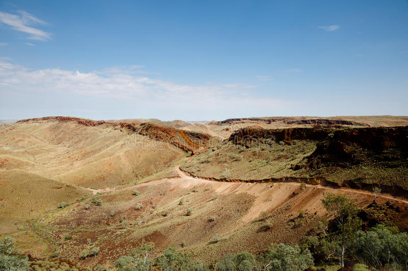 Campo para a exploração de mineração - Pilbara - Austrália fotografia de stock