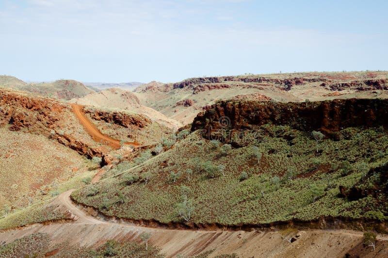 Campo para a exploração de mineração - Pilbara - Austrália imagens de stock royalty free