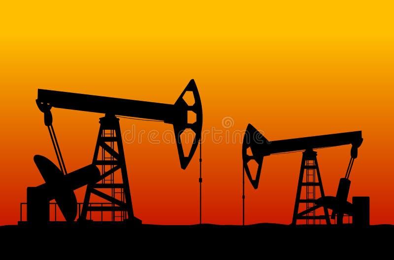 Campo petrolífero ilustração stock
