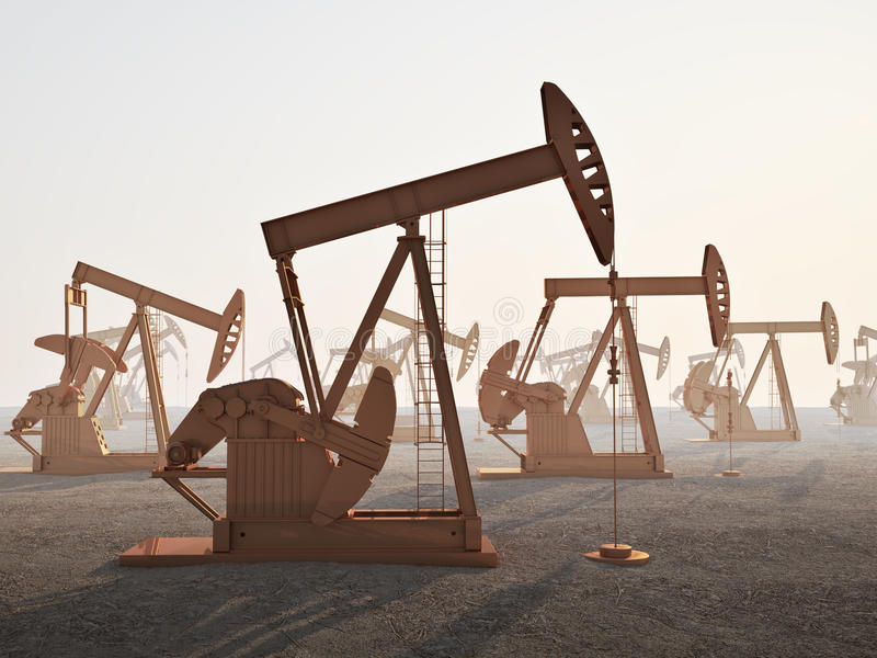 Campo petrolífero ilustração royalty free
