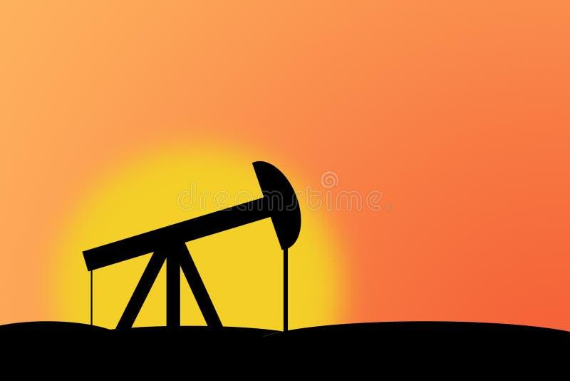 Campo petrolífero ilustración del vector