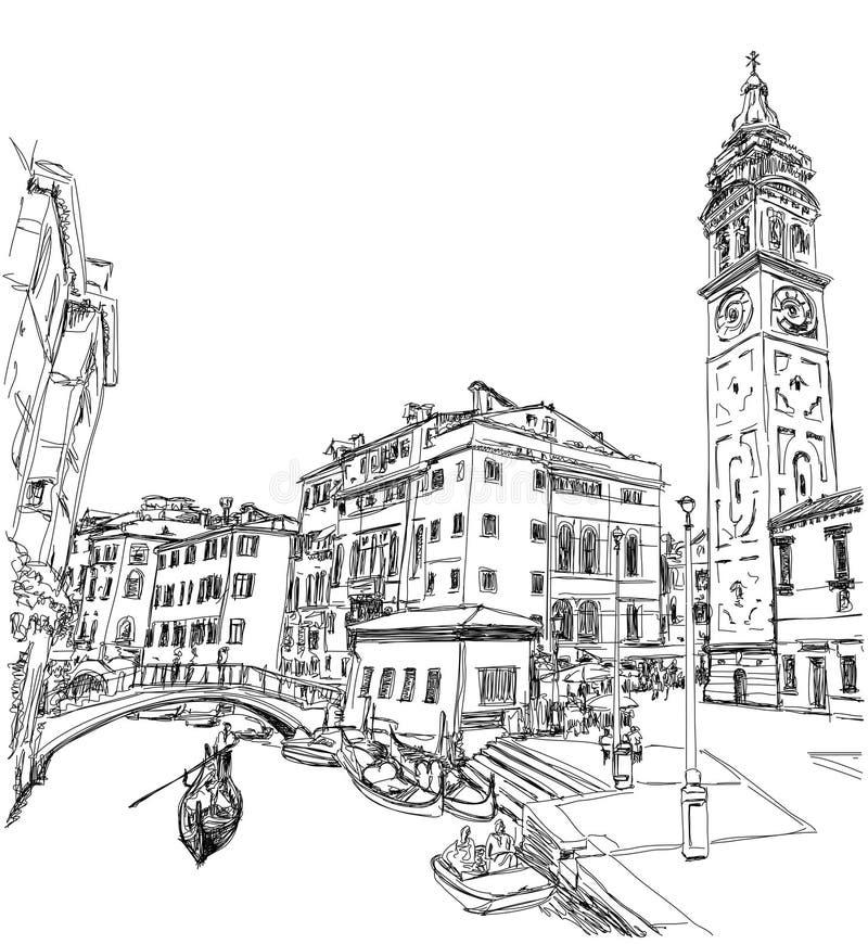 Campo S Maria Formosa Venetië, Italië royalty-vrije illustratie