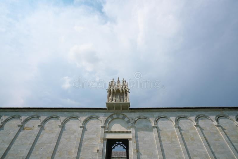 Campo Santo eller Camposanto eller monumental kyrkogård, Pisa fotografering för bildbyråer