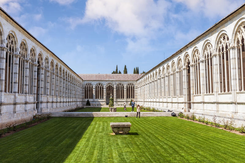 Campo Santo at the northern edge of the Pisa Cathedral Square, I royalty free stock images