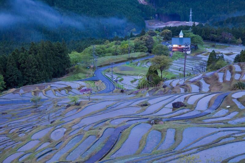 Campo Terraced do arroz em Maruyama Senmaida, cidade de Kumano, Mie Prefecture imagens de stock royalty free
