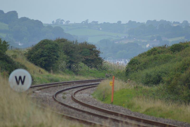 Campo Traintrack foto de archivo libre de regalías