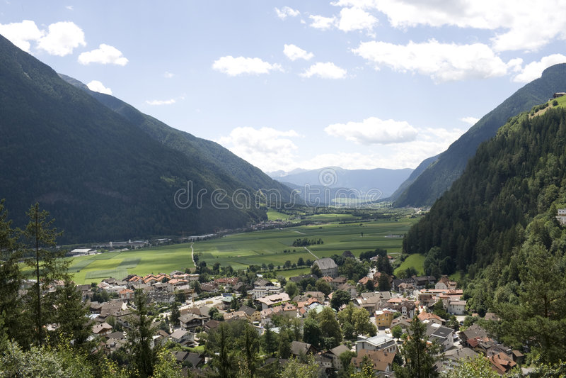 Campo Tures en el valle de Puster fotos de archivo libres de regalías