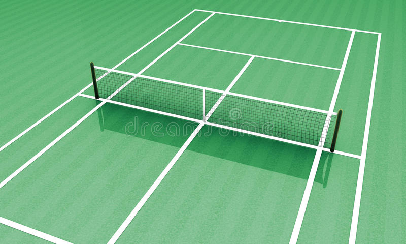 Campo verde del tenis libre illustration