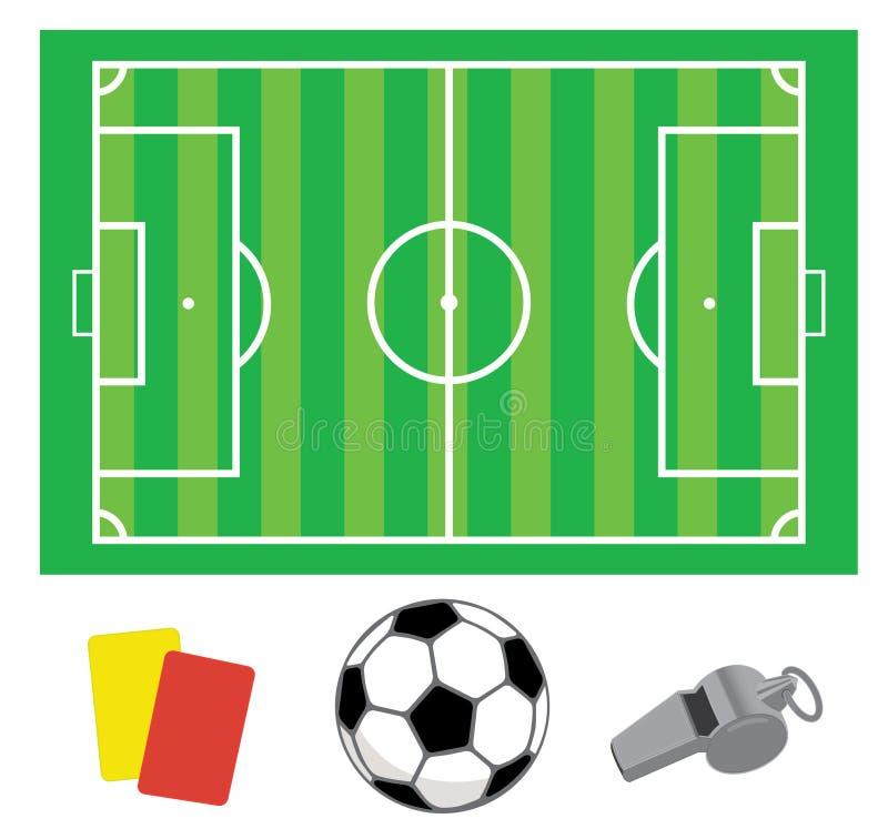 Campo verde do futebol ilustração do vetor