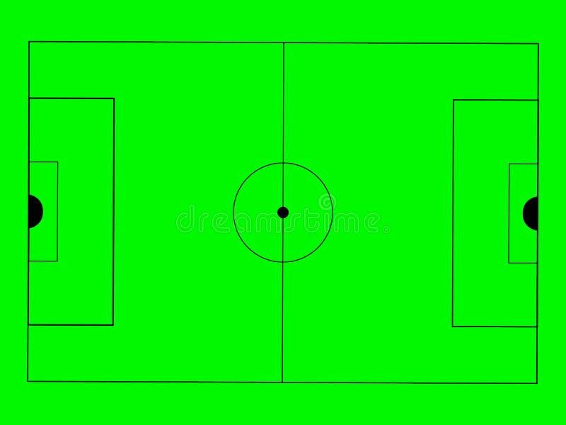 Campo verde do futebol ?cone da ilustra??o do vetor ilustração stock