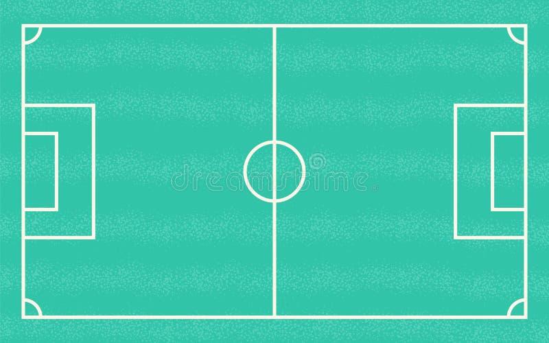 Campo verde plano con estrategia del juego de fútbol Ilustración del vector libre illustration