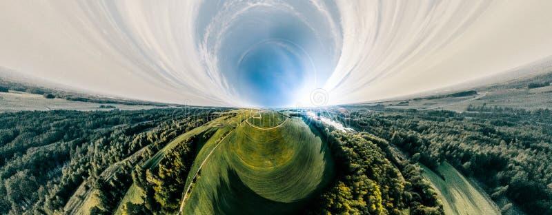 Campo y naturaleza verdes del bosque en Lituania imagenes de archivo