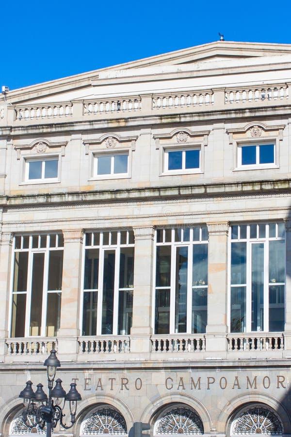 Campoamor-Theater in Oviedo, Asturien, Spanien lizenzfreies stockbild