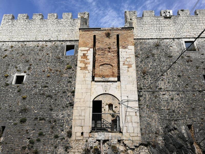 Campobasso – Entrata al Castello Monforte royalty free stock photo