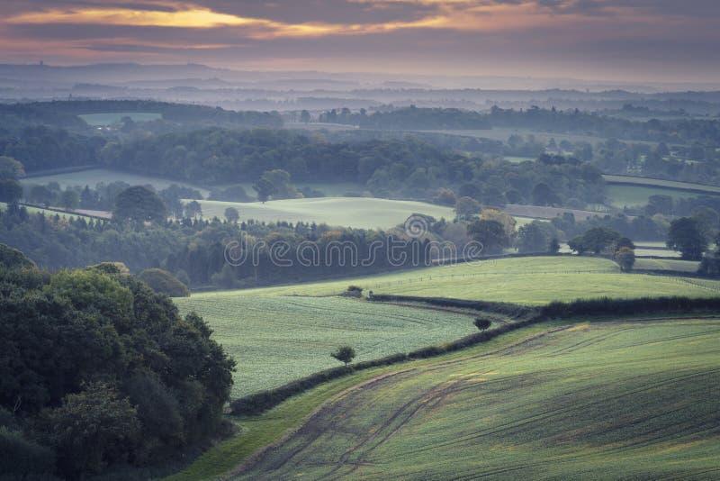 Campos britânicos do campo no outono fotografia de stock royalty free