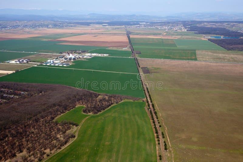 Campos da agricultura fotografia de stock