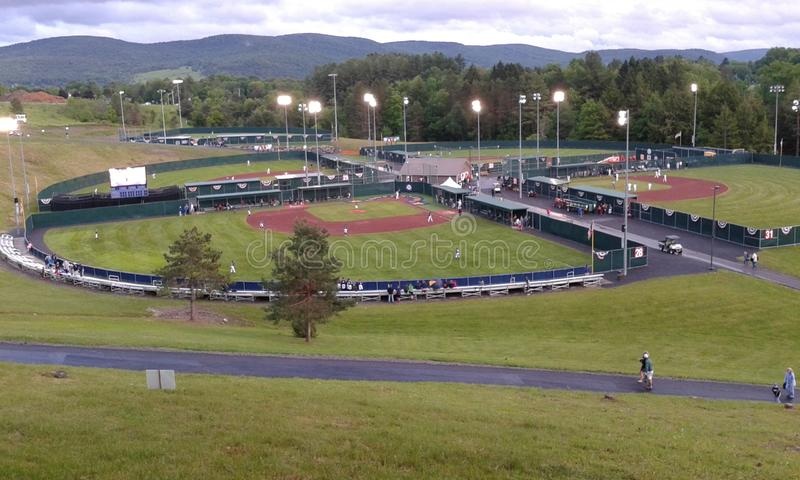Campos de basebol fotografia de stock