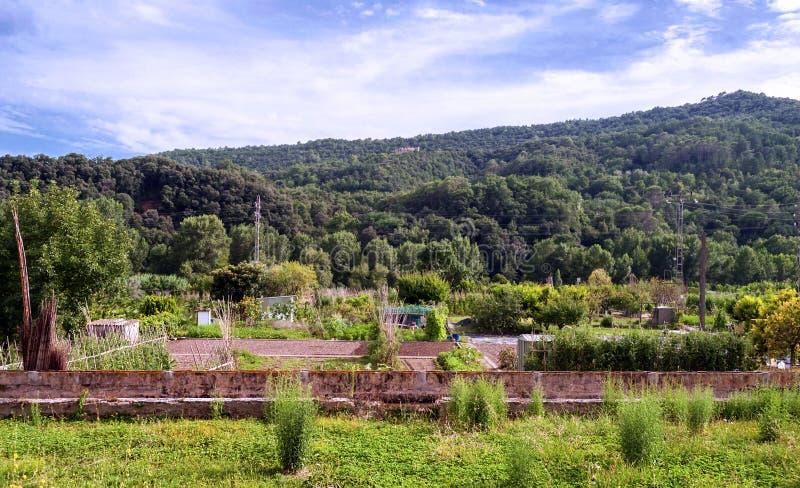 Campos de Besalu imagen de archivo libre de regalías