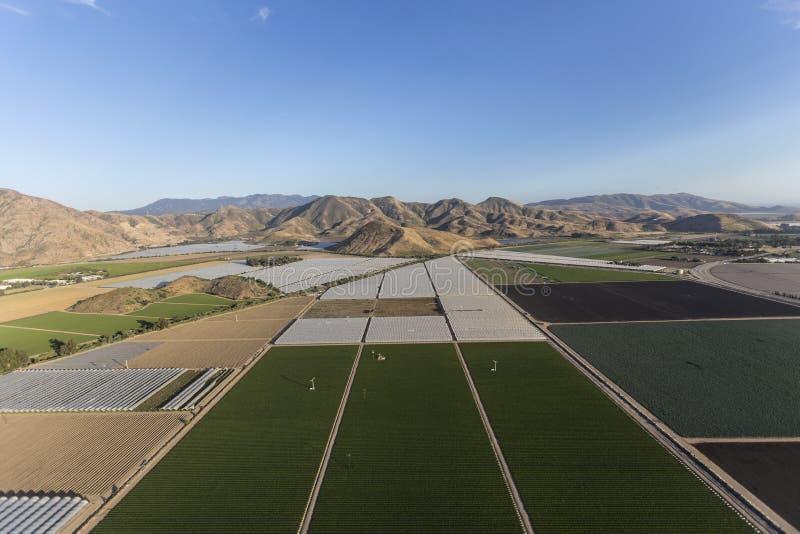 Campos de exploração agrícola Camarillo aéreo Califórnia imagens de stock royalty free