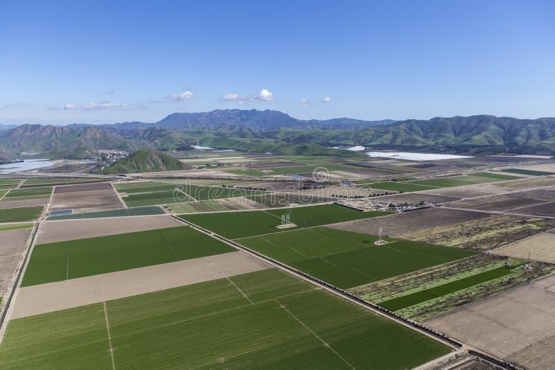 Campos de exploração agrícola de Camarillo Califórnia aéreos foto de stock royalty free