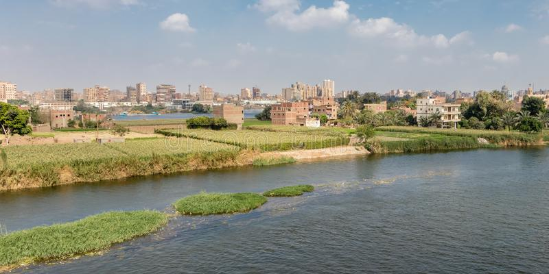 Campos de la agricultura en el capital de Egipto fotografía de archivo libre de regalías