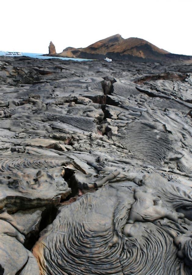 Campos de lava fotografía de archivo