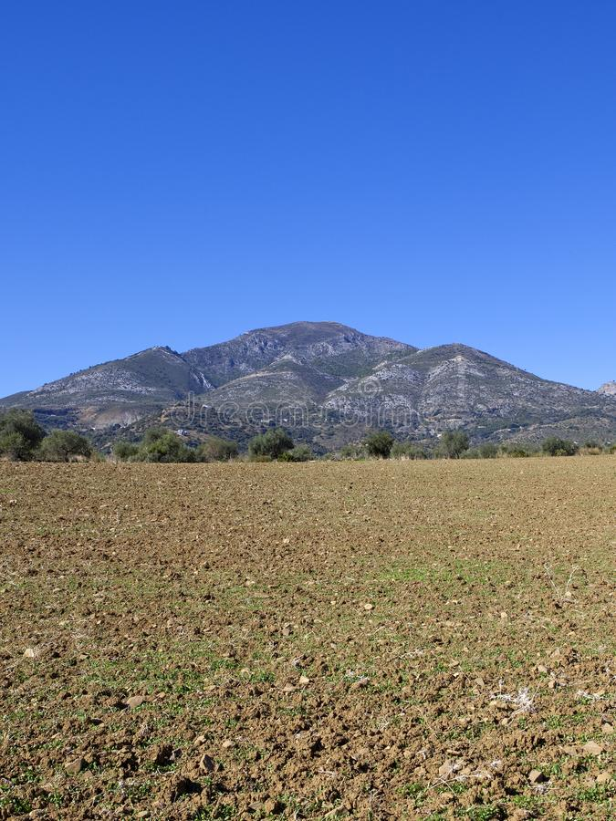 Download Campos E Montanha Secos De Andalucia Foto de Stock - Imagem de terra, paisagem: 107528860