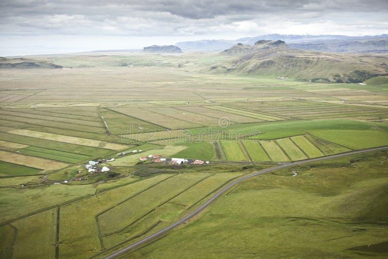 Campos em Islândia fotos de stock