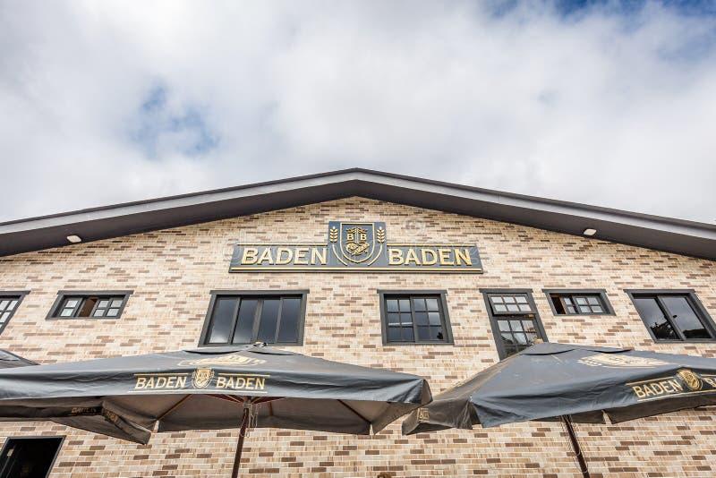 CAMPOS FA JORDAO, BRASILE - 3 LUGLIO 2017: Baden Baden Brewery immagine stock