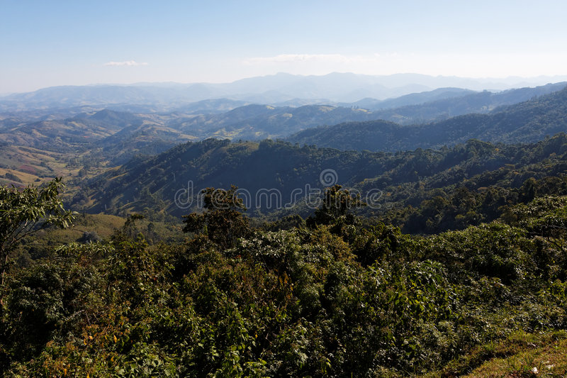 Campos fa le montagne Brasile di Jordao fotografie stock