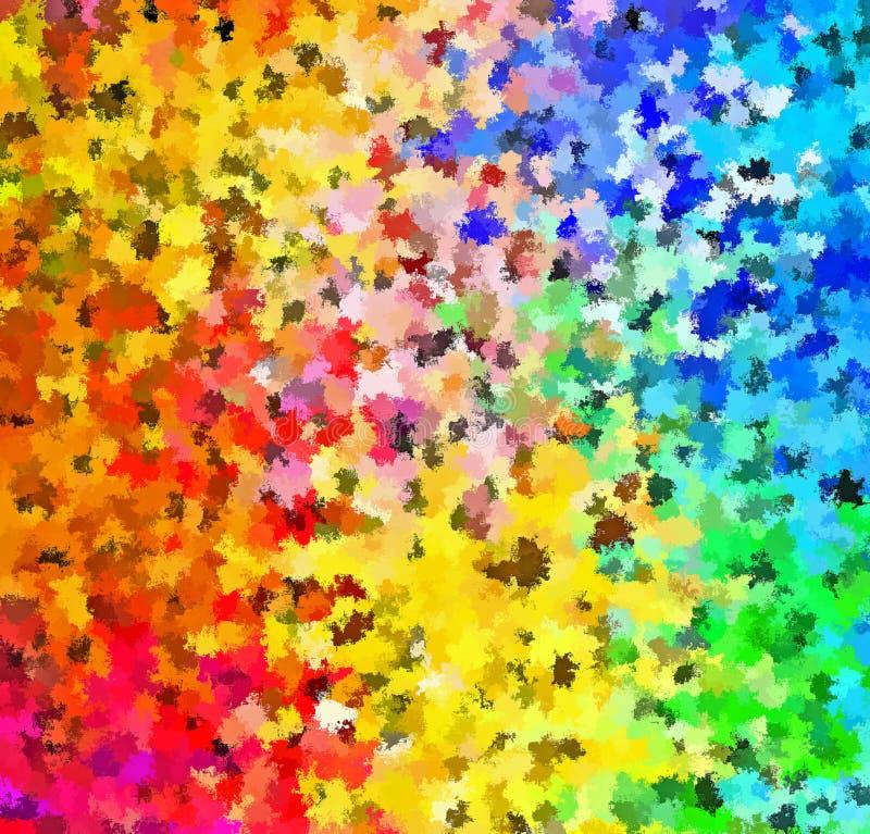Campos florales del salpicón de la pintura de Digitaces del extracto multicolor de la pintura en fondo suave colorido de los colo libre illustration